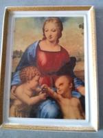 Raffaello Tengelicés Madonna- részlet fajansz kép