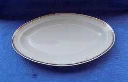 Régi Alföldi porcelán arany szélű ovális asztalközép kínáló 20,5*32 cm (6p)
