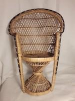 Baba bútor pávaszék rattan szék 42 cm