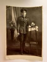 Régi fotó katona fénykép 1953
