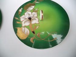 Art deco Schau Bach porcelán bonbonier aranyozott  kézzel festett