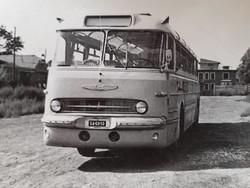 Régi fotó vintage buszos fénykép Ikarus magyar autóbusz