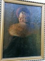 Hermelines hölgy  a 20 xzázad elejéről Rónai jelzéssel?