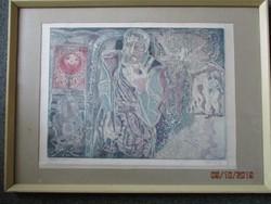 Józsa János 1936 Debrecen-2016  Festő grafikus Csodálatos képe