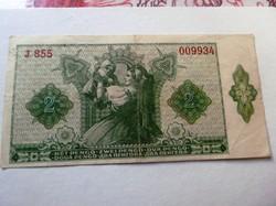 2 Pengő bankjegy ritka