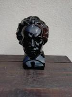 Ludwig Van Beethoven üveg mellszobor, brüszt