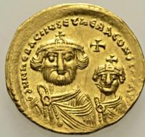 Bizánc II. Constans arany Solidus  Heraclius, 610- 641 Sear: 738.