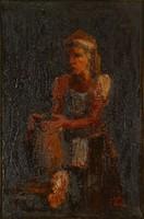 0Y231 Magyar festő XX. század : Mosónő