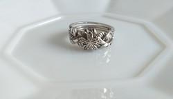Ezüst, antikolt erdész gyűrű