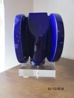 Különleges üveg és plexi térplasztika rendkivüli formájú és szép színű