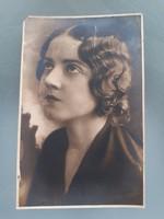 Régi fotó vintage női fénykép