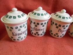 Régi porcelán fűszertartók (5 db)