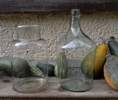 Antik fújt Huta üvegek