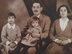 Régi fotó vintage családi fénykép