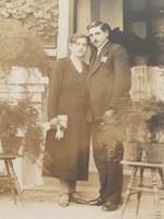 Régi fotó vintage női férfi páros fénykép