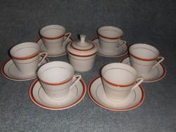Zsolnay porcelán kávés teás csésze készlet cukortartóval (0-1)