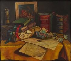 0M551 Szendy Arisztid : Íróasztali csendélet