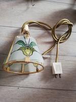 Tiffany mintás fali lámpa hangulat világítás sárgaréz keretben