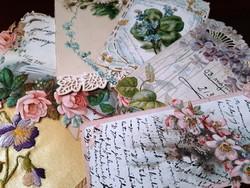 Régi képeslapok,esküvői meghívó