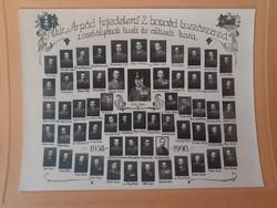 Régi fotó 2. honvéd huszárezred tablókép csoportkép katona huszárok 1938-40