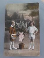 Régi képeslap gyerek fotó 1923