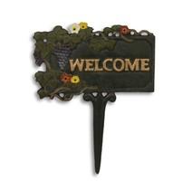 Öntöttvas üdvözlő tábla- welcome tábla