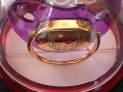ÚJ 14K arany 925 ezüst valódi cumi