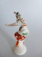 Extrém ritka orosz Lomonosov porcelán táncoló lány