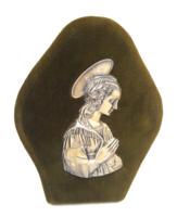 Keresztelő ajandék antik ezüst kép Firenze