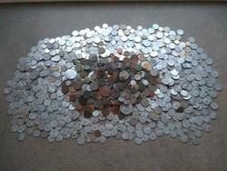 Nagy rakás (2,85 kg) lakodalmas pénz / id 11915/