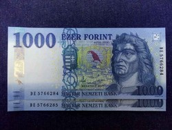 UNC 2 db sorszámkövető UNC 1000 Forint 2017 (id11918)