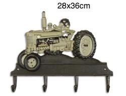 Öntöttvas traktoros fogas-ruha akasztó