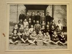 Régi gyerek fotó csoportkép vintage fénykép iskolai osztálykép 1932-33