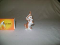 Retro Aquincum porcelán kutya figura, nipp