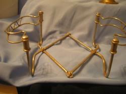 Régi Fém , állítható összecsukható  Edénytartó-asztalközép 30 x 17cm-es