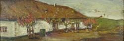 0Y267 Magyar festő XX. század : Tanyaudvar