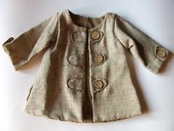 Aranyos játékbaba kabát nagyméretű porcelán babához