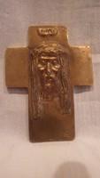 P.ZS. jelzéssel Jézus kereszt réz ötvösmunka