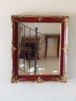 Blondel tükör bordó,arany,,62 x 52 cm