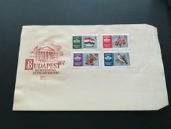 1961-es Nemzetközi bélyegkiállítás , budapest I . FDC