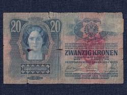 Osztrák-Magyar (1912-1915) 20 Korona bankjegy 1913 / id 11086/