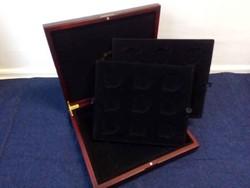 Mahagóni fa érmetartó doboz 24 érme tárolásához / id 11914/
