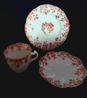 Antik angol porcelán reggeliző szett