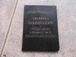 Arcképes igazolvány 1962.