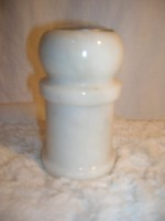 ÖTVEN DEKAGRAMM ! Fehér márvány sószóró 10 x 6 cm - hibátlan