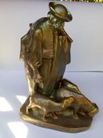 Zsolnay Pásztor figura Beszédes János László alkotása 1921.