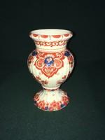 Századfordulós Delft kézzel festett porcelán váza