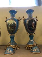 Francia Sevres style váza pár