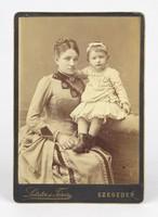 0Y385 Antik szegedi fotográfia LETZTER és TÁRSA