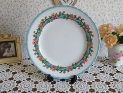 Antik, opaque, fajansz tányér